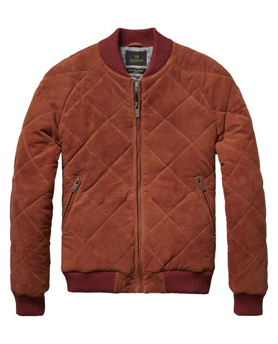 Suede Bomber Jacket - Scotch