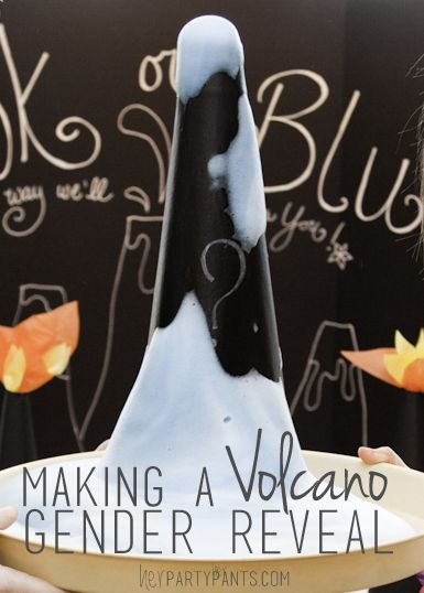 Move over cake reveals and balloon boxes, enter my volcano theme gender reveal with elements of a luau to boot.