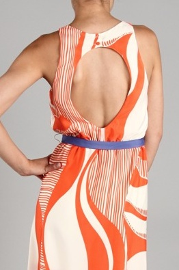 'Sunkissed' Dress with open back - back view