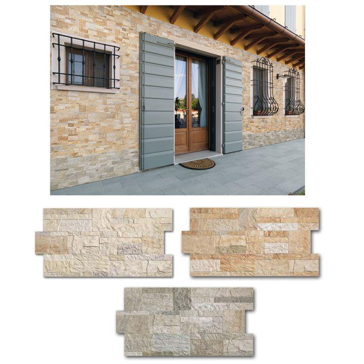 1 piastrella gres Fiordo Rockstyle effetto pietra rivestimento parete moderno
