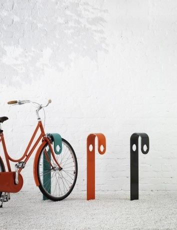 Designed for Nola, this bike rack is a piece of street furniture we wish we had here in San Francisco.