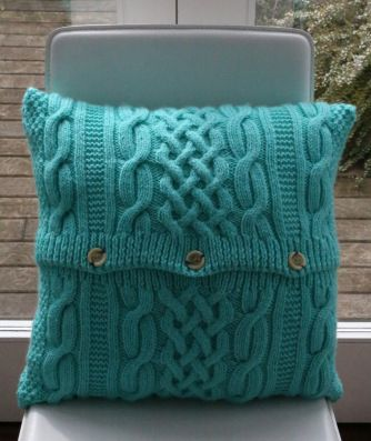 cable knit cushion, like a cosy jumper