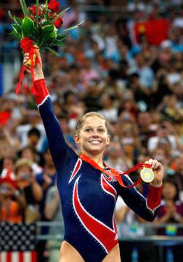 My all time favorite gymnast--Shawn Johnson. Love her & was so disappointed when she announced her retirement. The Olympics will never be the same.