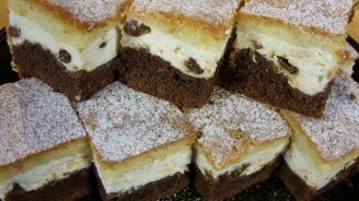 Kuchařská pohotovost - Tříbarevný koláč s tvarohem