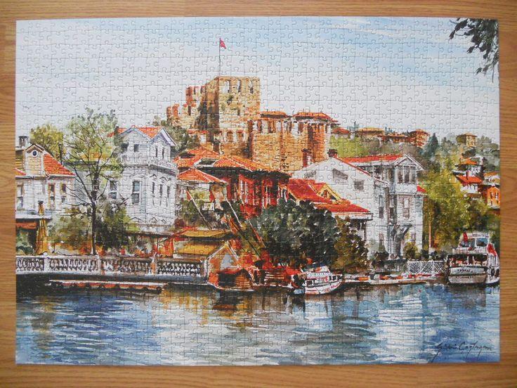 """""""Gordion Hisar 1000 parça puzzle"""" Hazır yapılmış ve yapıştırılmış çerçeveye hazır puzzle Aynı gün kargo!  Satın almak ve fiyat bilgisi için ürün görseli üzerine tıklayın lütfen..!!"""