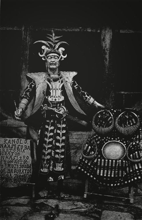Man of Nias in ceremonial costume