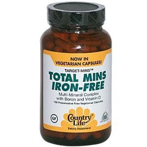 Country Life Target Mins Iron-free Total Mins Multi-mineral Complex, 150-Count ** Click image to review more details.