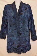 Beautiful Blue/Black Light Weight Summer Floral Blazer - Size 14