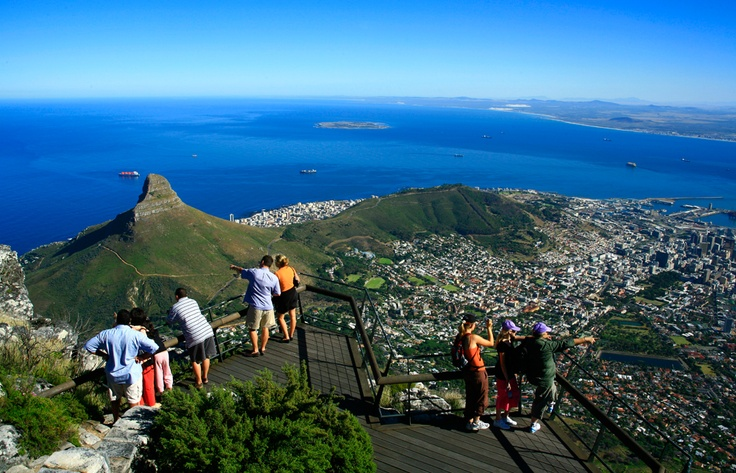 The stunning view from the top of Table Mountain  http://www.africanwildlifesafaris.com.au/africa/africa_brochure.html