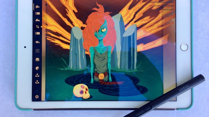 See how illustrator Helen Madden creates zombie art with her iPad Pro and Wacom Bamboo stylus.