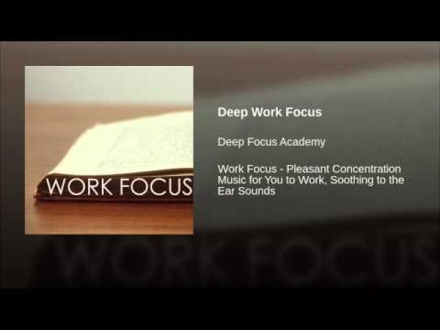 Deep Work Focus | Music For Focusing And Learning | Ear sound, Deep