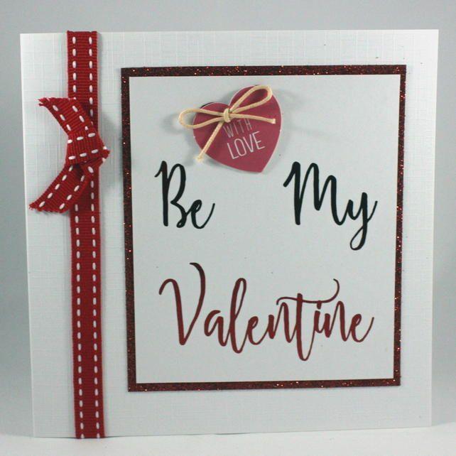 Handmade Valentine's Day card - Be My Valentine £2.50