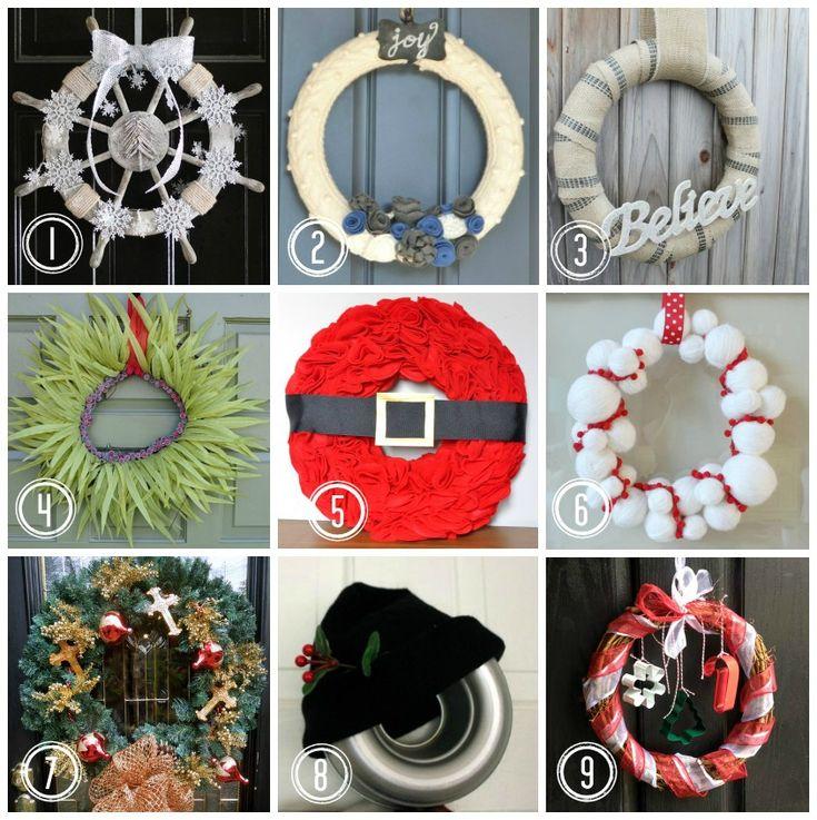 Christmas wreaths www.somuchbetterwithage.com #wreaths #christmas