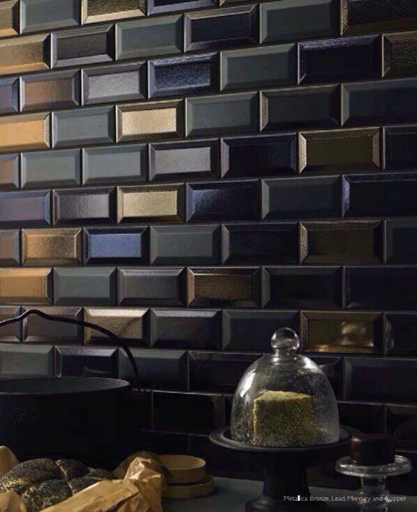 1037 Best Backsplash Tile Images On Pinterest: Tile In Shades Of Black