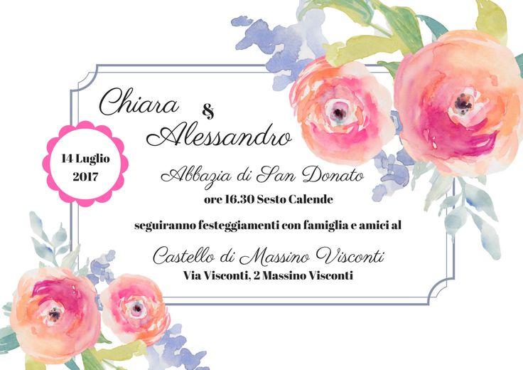 Download personalizzato - invito matrimonio di ChiacchiereDiCarta su Etsy