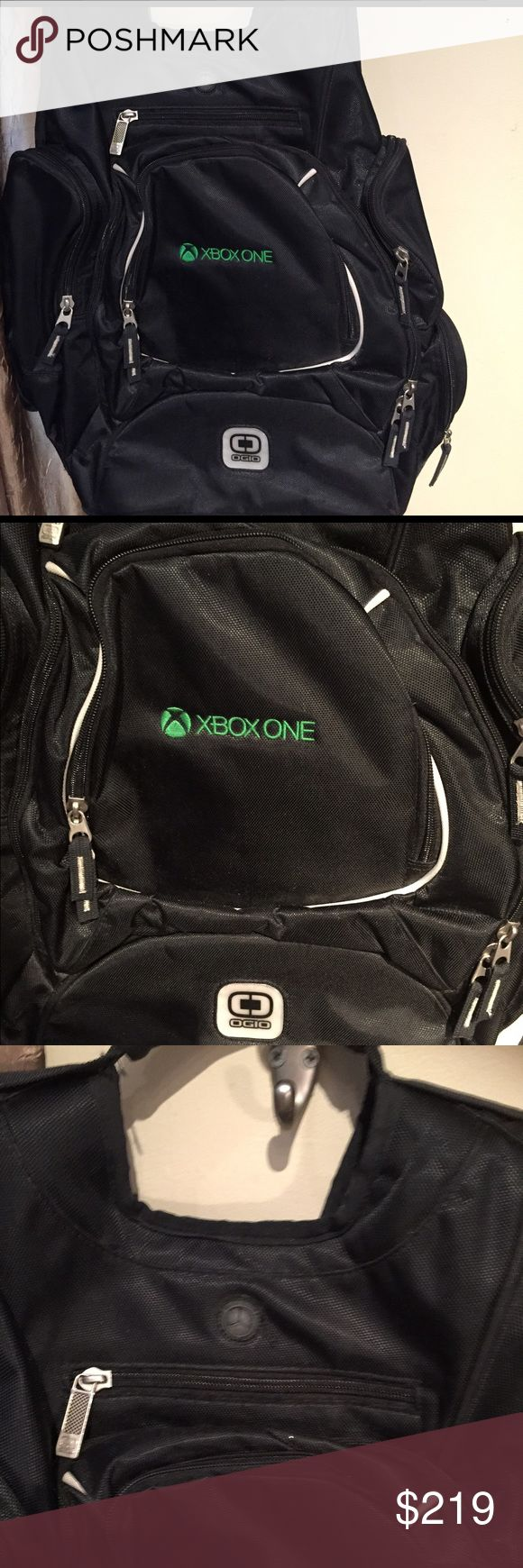 Microsoft Xbox one backpack Limited  edition Microsoft Xbox one backpack Limited  edition. Travel with Xbox one, gaming console, ,controllers games, & cables. Make be a surprise inside  of the backpack Microsoft Bags Backpacks