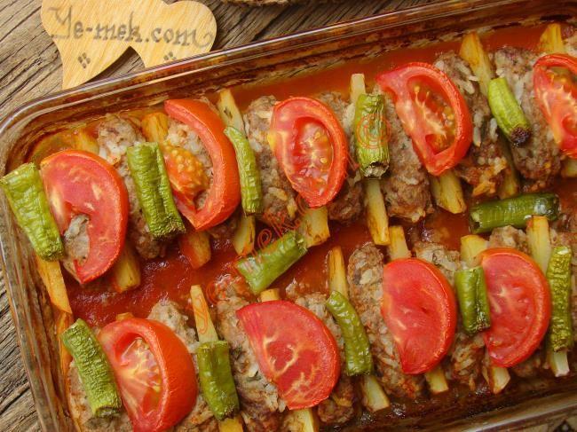 Fırında Pirinçli Köfte Resimli Tarifi - Yemek Tarifleri