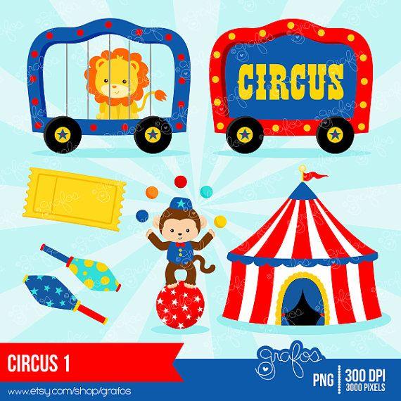 CIRCUS 1 Digital Clipart Circus Clipart Clown Clipart by grafos