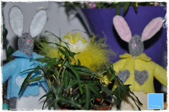 Bunny handmade easter feltro