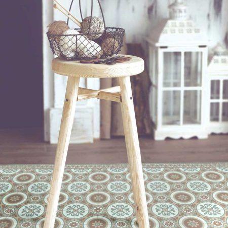 Alfombra diseño clásico ·Modelo Wheels_C· #adamaalma #alfombras #vinilo #design #baldosas #baldosashidráulicas #decor #decoración