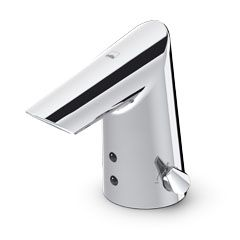 Oras Optima. Touchless washbasin faucet with a temperature adjustment handle. Battery-operated 6 V (1714F)