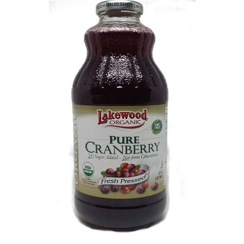 OK. Is there anything more cloying and ersatz than bar-gun cranberry juice? I mean, c'mon, lets get real. This Lakewood Organic Pure Cranberry Juice is not the