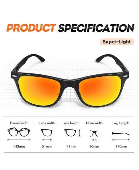 9809ade8d3 Polarized Wayfarer Sunglasses- Retro Classic Trendy Stylish ...