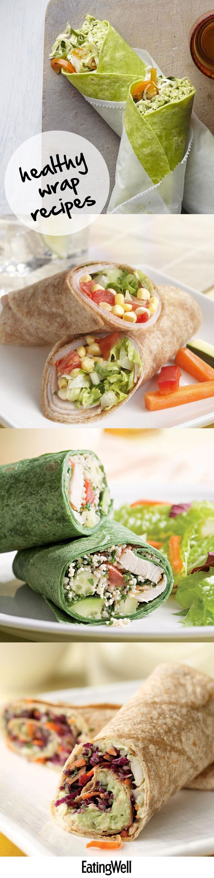 Healthy wrap recipes under 500 calories. Perfect for a healthy lunch.