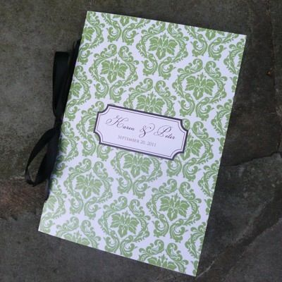 damask wedding program booklet template diy wedding programs