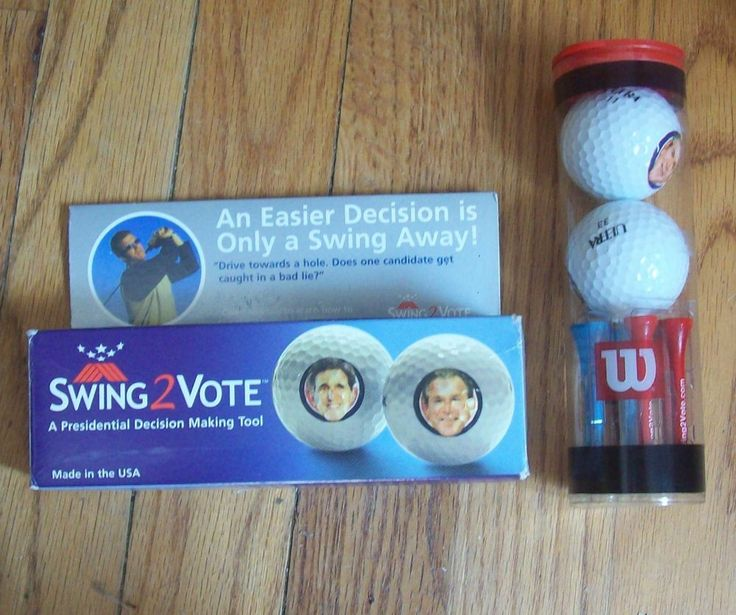 BUSH V GORE 2004 PRESIDENTIAL ELECTION UNUSUAL GOLF NOVELTY COLLECTIBLE
