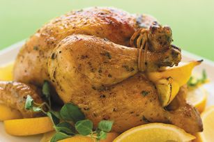 Greek-Style Lemon Roast Chicken {also works as a marinade for grilled or baked boneless skinless chicken breast} @Kraft Recipes