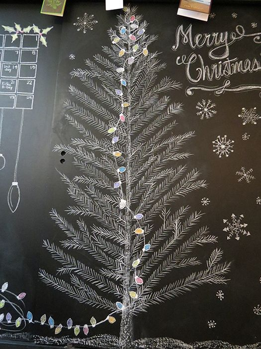 Chalkboard Christmas tree! Love!  source: A Goode House