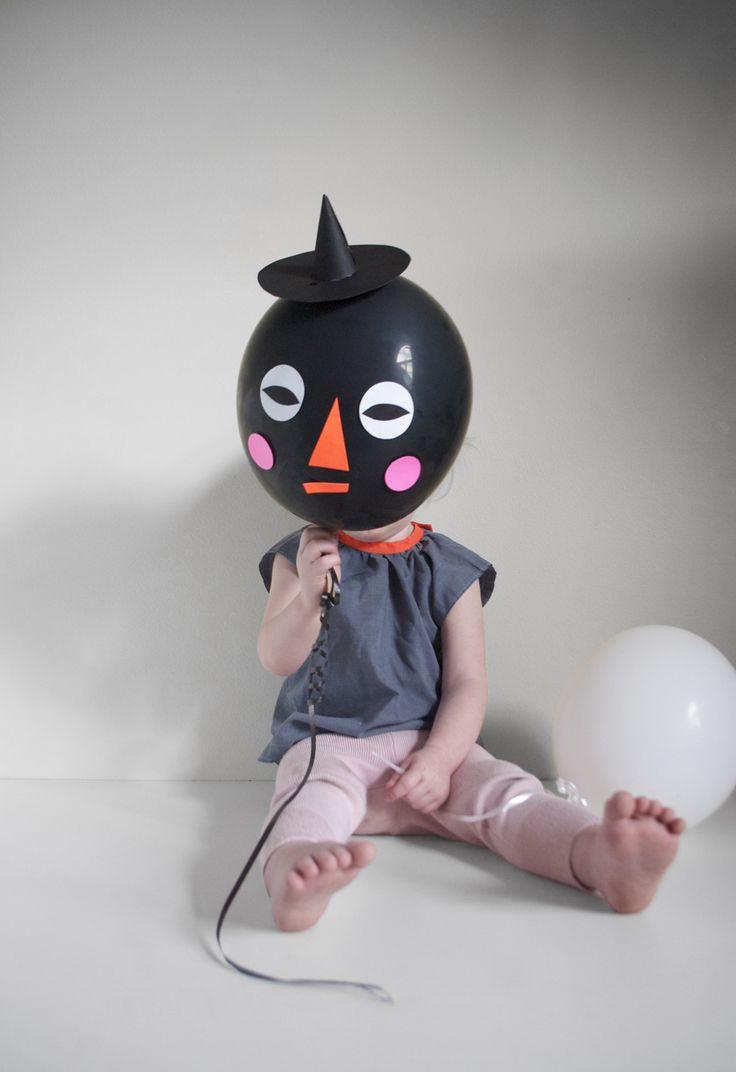 DIY: Halloween Balloon Faces