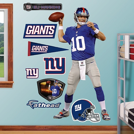 Eli Manning - Home, New York Giants.....When i have a kid, his room will look like this