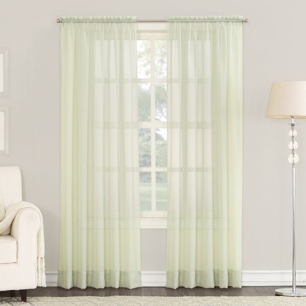 No 918 Emily Sheer Voile Single Curtain Panel Panel Curtains Curtains Rod Pocket Curtain Panels