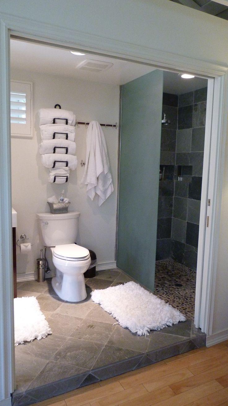 Towels Storage In A Small Bathroom Home Pinterest Bathroom