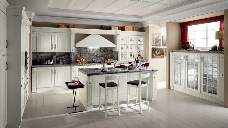 Scavolini  #mobiliriccelli #riccelli #arredamento #mobili #arredo #furniture #kitchen #indoor #interior #design #casa #home #madeinitaly #cucina #scavolini #white #bianco #classico #classic #baltimora