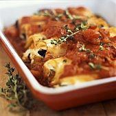 Cannellonis farcis à la courge butternut et porc