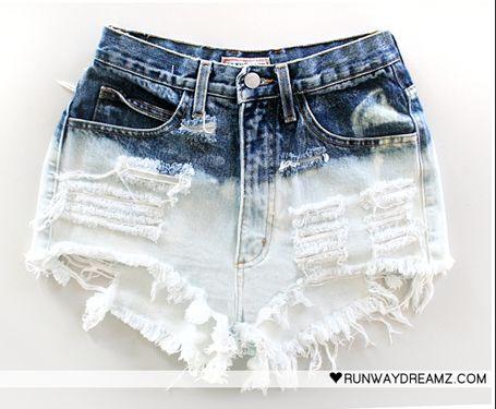 do it yourself: Hot Stuff, Idea, Diy Shorts, Diy Fashion, Bleach Shorts, Diy Clothing, Ripped Jeans And Shorts Diy, Random Pin, Studs Shorts