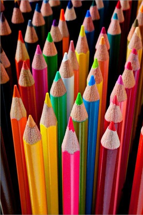 .Crayons de bois Multicolore
