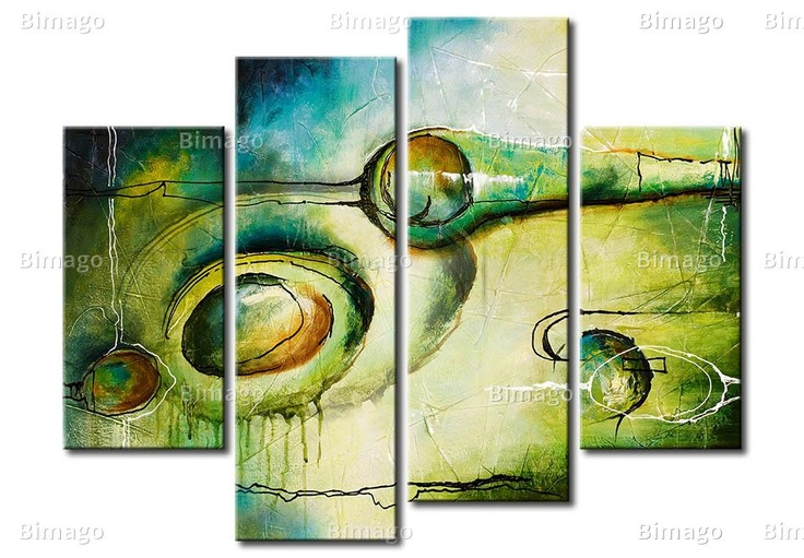quadro astratto, dipinto su 4 tele, bimago.it // abstract art on canvas, painting