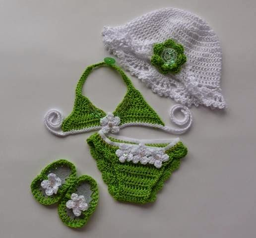 Sydney Craft: Crochet Bikini for little girls .....
