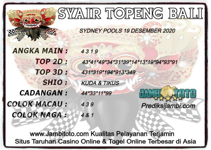 Pin Di Forum Syair Sydney Pools Akurat Topeng Bali