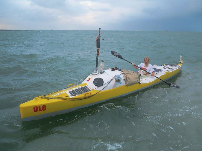 Why He Kayaked Across The Atlantic At 70 For The Third Time Kayak Boats Canoe And Kayak Kayaking