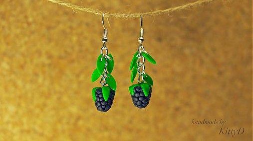 Sweet blackberries by kittyD - SAShE.sk - Handmade Náušnice