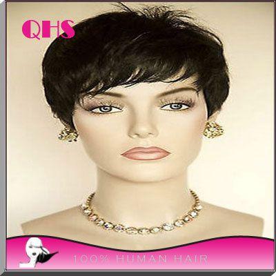 Знаменитости парик волосы натуральный черный эльфа парики дешевые полные ни фронта короткий путь парик для чернокожих женщин