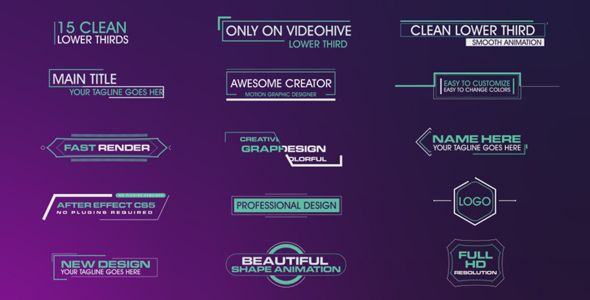 Clean Lower Thirds (After Effects Project Files) #Envato #Videohive #aftereffects