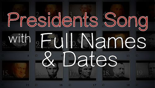 "There are a few nice little president songs out there, but there was a little problem. See, all the ones I found listed the presidents in order from first to most recent by their last name. ""Washin..."