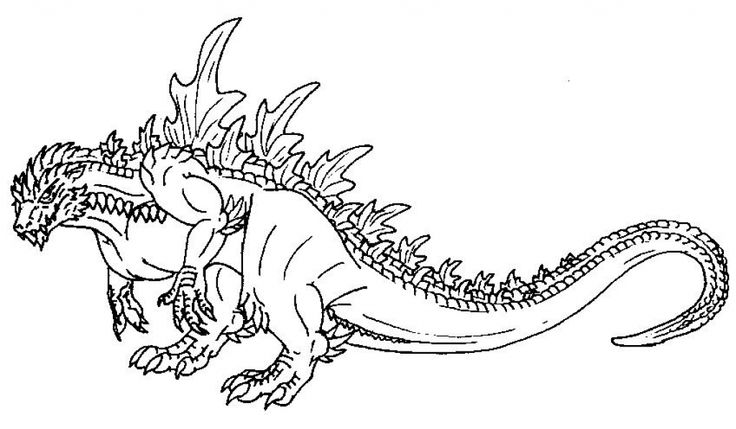 Online Godzilla Coloring Page