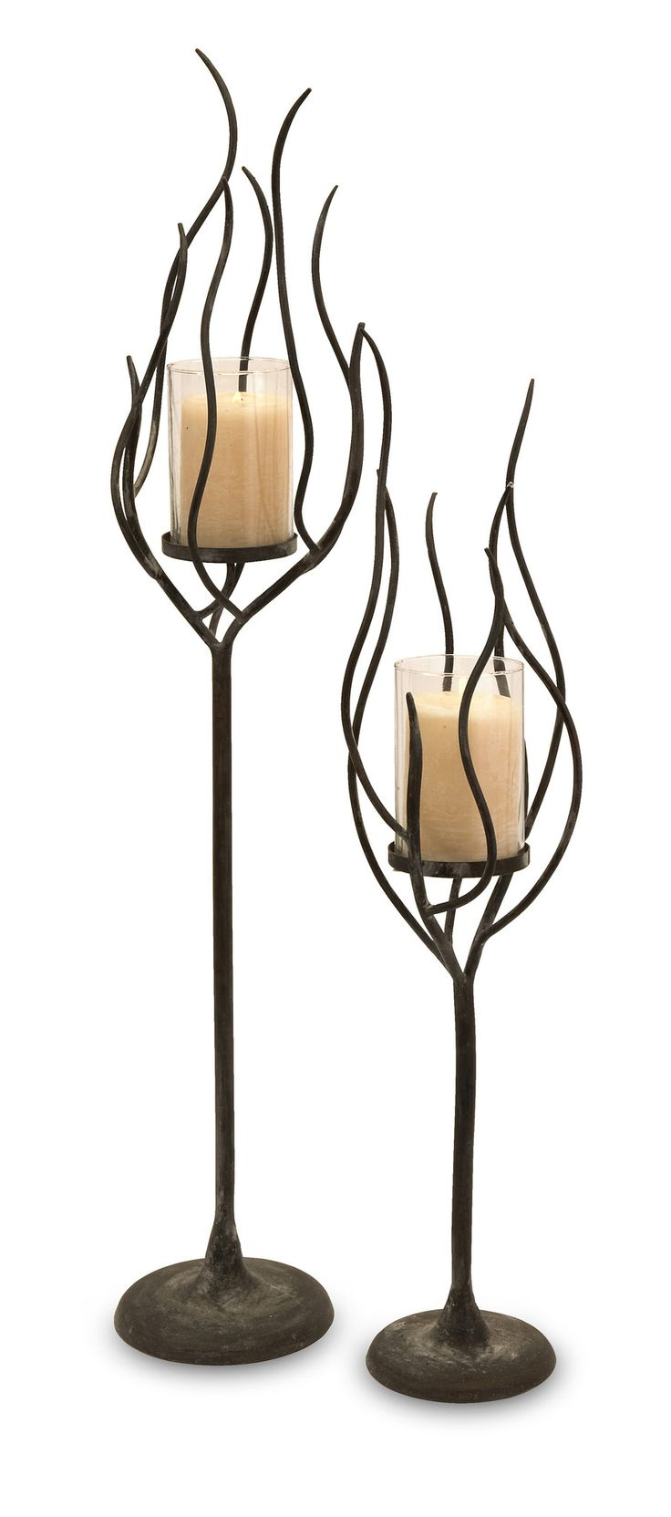 best  wrought iron candle holders ideas on pinterest  wrought  - anemone candle holder  set of